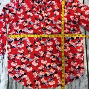 Cynthia Rowley Tops - Cynthia Rowley long sleeve floral blouse Sz L